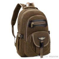Wholesale Canvas Backpack Multifunction Teenager School Bag Book Campus Backpack Bag men women s outdoor sport backpacks green black khaki color