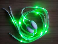Wholesale LED flashing shoe lace fiber optic shoelace luminous shoe laces light up flash glowing shoes lace colorful