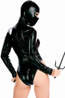 Wholesale Female Ninja Siamese Dress Catsuit Suit Party Wear Stage Clothing BDSM Bondage Cosplay Adult Costume Sex Toys SY8625