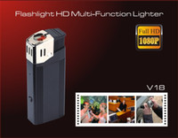 Wholesale Full HD P lighter Hidden camera security camcorder with highlighted flashlight support TF card mini dvr V18