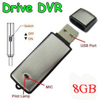 Wholesale 8GB Hot selling cheap new mini usb voice recorder pen drive long time recording