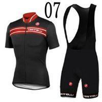 bike clothing - Brand Castelli Cycling Jersey Set Short Sleeve Black Shirt and Padded Bib Shorts Bike Suits Durable Fashion Bike Clothing