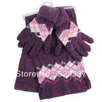 Wholesale R4586 beautiful Unique Simple Neck Warmer Cowl Beanie Hood Knitting Wool Scar and gloves colors