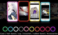 Cheap Innovation Ringcase for iphone 5 5S soft silicone case Glow in the dark bumper cases Bracelet cover 10 color package frame ring hair band