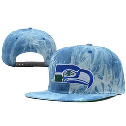 Wholesale Newest Seahawks Snap Back Hats Acid Wash Snapbacks Brand Football Caps Top Quality Flat Caps Discount Ball Caps Cool Men Caps Women Hats