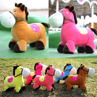 Cheap Lovely Baby Plush Toy 17cm Horse Plush Toys Tell Story Props Animal Doll Kids Toys Children Gift TV & Movie Character
