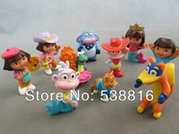 Wholesale High Quality New set Dora The Explorer Collection Figures pvc Toys and Retail