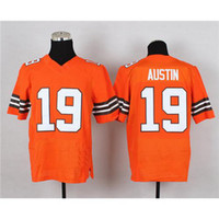 Cheap #19 Miles Austin Orange Elite American Football Jersey Cheap and High Quality Stitched Football Jerseys Sportswear Mix Order