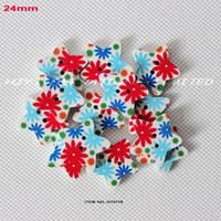 Cheap WHOLESALE(150PCS LOT) NEW WOOD BUTTON WITH STAR SHAPE SEWING 24MM -SY0178