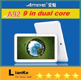 Wholesale 9 INCH dual core A23 phablet m GB Ampe A92 G GSM One card Phone tablet Android4 Dual Camera WIFI Tablet PC phone tablet FREESHIPPING
