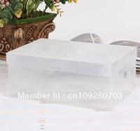 Wholesale 100pcs Clear Plastic Shoe Box Case Storage Organizer For Men s Shoes Size