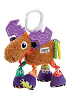 Cheap David's deer 1pcs 10.2'' 26cm super cute multifunctional Pere antelope brown lamaze bed hang bell baby toys