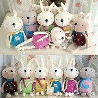Cheap baby girls Small doll plush toy rabbit cute 6 colors size 10-16 cm boys wholesale 6pcs lot gift free shipping
