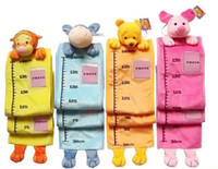 Wholesale Lovely fashion children animal head measurement ruler height chart X mas Gift toys