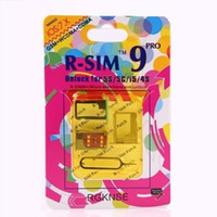 Wholesale Original R SIM RSIM9 R SIM9 Pro Perfect SIM Card Unlock Official IOS ios7 RSIM for iphone S S C GSM CDMA WCDMA G G