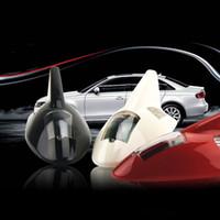 Wholesale Solar Car Light Solar Power RGB LED Shark Fin Antenna Style Car Tail Warning Flash Light Silver Led lighting