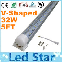 door - T8 FT W V Shaped Led Tube Light Double Glow m Integration For Cooler Door Led Lights AC V Warm Cool White Transparent Cover