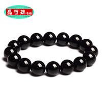 Cheap Braim black tourmaline bracelet natural crystal accessories transhipped Women male bracelets
