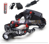Wholesale 1 battery car charger Derect Charger CREE Q5 Head Lamp Light W CREE LED HEADLAMP FLASHLIGHT