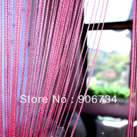 Wholesale Pink Style Tassel Fringe Hanging String Partition Divider Wall Door Curtain