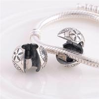 Wholesale Sterling Silver Charms Original Clip Clasp KT061 Unique Totem Beads Compatible With European Pandora Bracelets