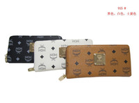 womens wallets - Hot sale women clutch zipper leather wallet womens brand MCM wallet purse