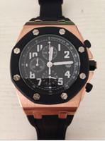 Cheap Luxury quartz movement Best Men's Stopwatch rubber band