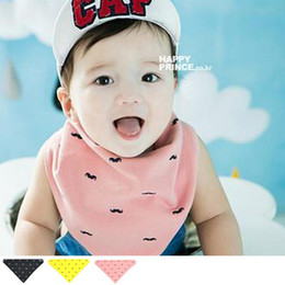 Boys Girls beard Bandana Dribble Bib for babies and Toddlers beard Bandana Triangle Bibs Muslin3 Colors