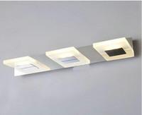 Wholesale led light Modern Lights Fixture Minimalist LED Waterproof Warm White Bathroom Mirror Vanity Lights DD555