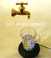 Wholesale Novelty multi color water faucet lamp Wonderful fountain water flow LED cup light Magic Tap running lights retailsale