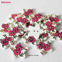 Cheap WHOLESALE(300PCS LOT) WOODEN BUTTON WITH STAR SHAPE SEWING 24MM -SY0185
