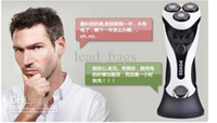 Wholesale POVOS High Quality Mens Electric Rotary Shaver Triple head Fully Washable Mens Shavers White Grey Colors PR PQ8602W G
