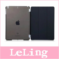 Wholesale For Ipad mini mini retina Pc Magnetic Front Smart Cover Skin PC Anti Glare Matte Hard Plastic back case for ipad mini mini retina gt set