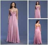 Cheap Wonderful Chiffon Spaghetti Empire Waist Prom Dresses A Line Beaded Sequins Gowns Made In China Ruffles Floor Length Evening For Girls LN