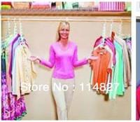 Wholesale 8pcs clothes hanger Magic Hanger hangers