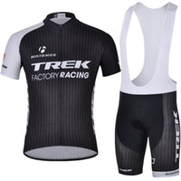 Wholesale Hot Trek Team Cycling Jerseys Bicycle Apparel Men s Bicycle Jerseys Size XL Gel Padded Bib Pants Short Sleeve Bicycle Trek Jersey