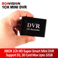 Black SD-card max.support up to 32GB MP3 XBOX HD 1 Channel Super-Smart Mini DVR Support SD Card Real-time MPEG-4 Video Compression Balck Color