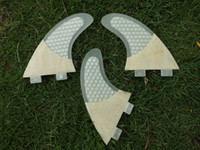 Wholesale Fiberglass honeycomb bamboo surf board fins FCS surf fins