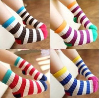 colorful socks - Korean Style Autumn Spring Kids Childs Colorful Cotton Socks Baby Sock Stcoking Children Warm Wear Accessories Pairs J1758