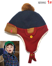 Wholesale New Arrival Warm Baby Kid Toddler Winter Earflap Pilot Cap Hat Beanie Bomber Flight Helmet