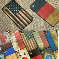 antique apples - Hard Plastic USA UK Antique Scrub Country Retro National Flag Matte Case Cover For iPhone S iPhone S MOQ