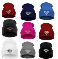 Wholesale New Hot Sale Diamond Beanie hat Winter Skullies Street Hip hop Hats HIgh Quality beanies Fashionable beanies LJJD78