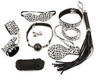 bondage kit - Leopard Print Fetish Sex y Toy Spider man Final Bondage Restraint Kits Secret Under Bed System Pink Bondage Kit Leather Rest