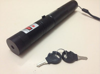 Wholesale laser303 mw red laser pointers burning black match with safety keys