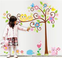 owl decor - Owl scroll tree Hoot Wall decals Removable stickers decor art kids nursery room