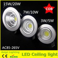 Wholesale Factory Directly Sales w w w w w w cob led downlight high brightness ceiling spot light warm cold white plafond recessed lights