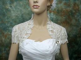 Wholesale Latest Bridal White Lace Jacket Short Sleeve Custom Size Wedding Bolero Drop Shipping