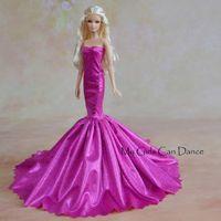 Wholesale Fashion Purple Skirt For Boneca Barbie Doll