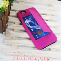 Wholesale For Iphone6 quot inch case Credit Card Plastic stand holder Case for i6 iphone6