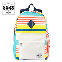 Wholesale 8848 New Style Polyester Malibu Series Fashion Backpacks California Style Striped City Backpacks in Bright Colors C050 A